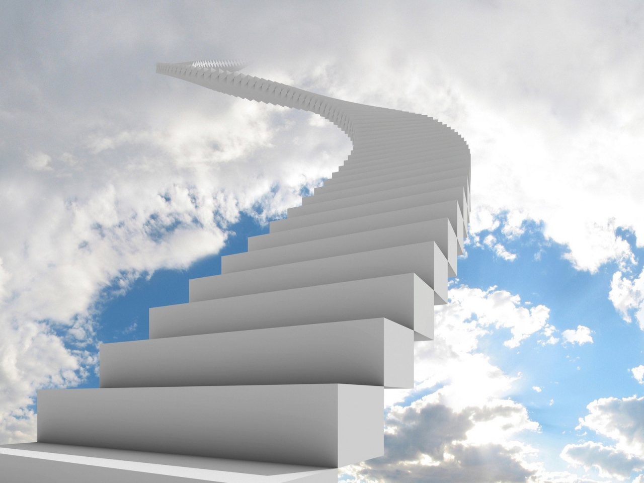 ladder-clouds- way-goal